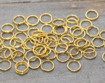 Open Jumprings 7mm outer 18 gauge  1mm JRG78 Lead /& Nickel Free BULK 1000pcs x 7mm Brass Gold Plated Jump Rings