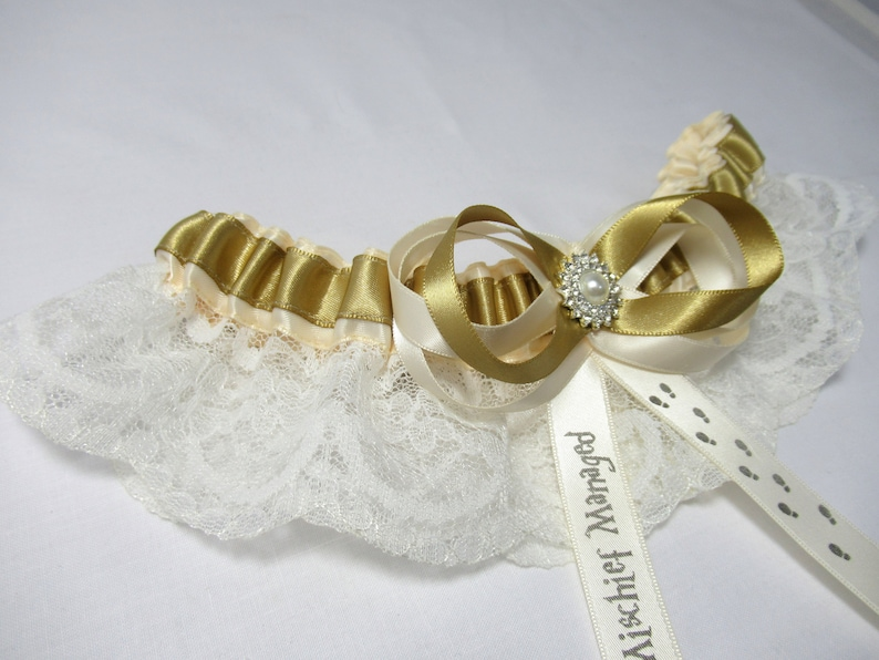 LaceSatin Wizard Fantasy Magic School House Inspired  Lace Brides  Toss Bridal Wedding Garter Wizard Ring Cushion