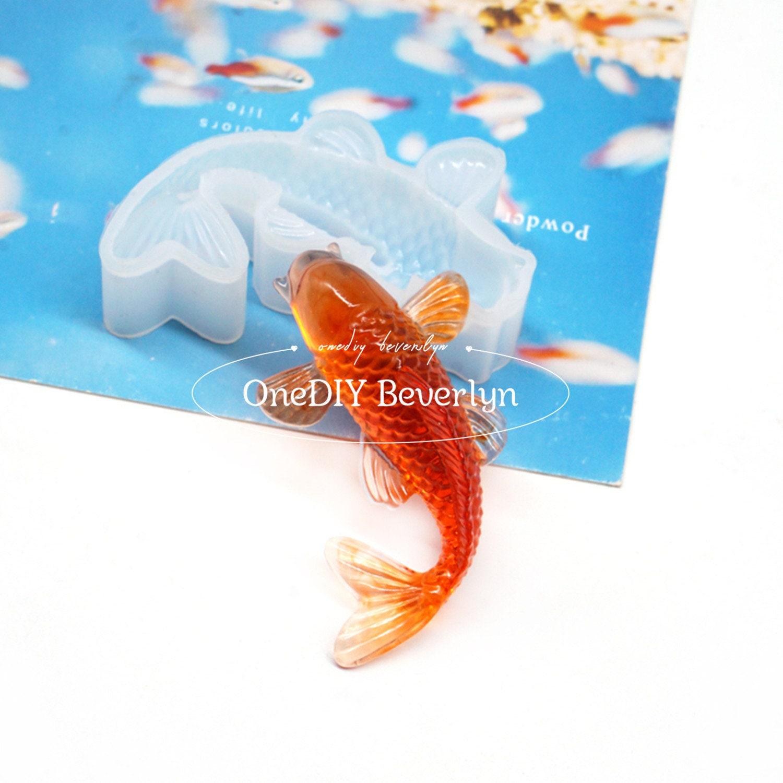 Silicone Koi Mold Lucky Carp Fish Mold Carp Fish Fondant Silicone Mold Japanese Fish mold Fish Silicone mold