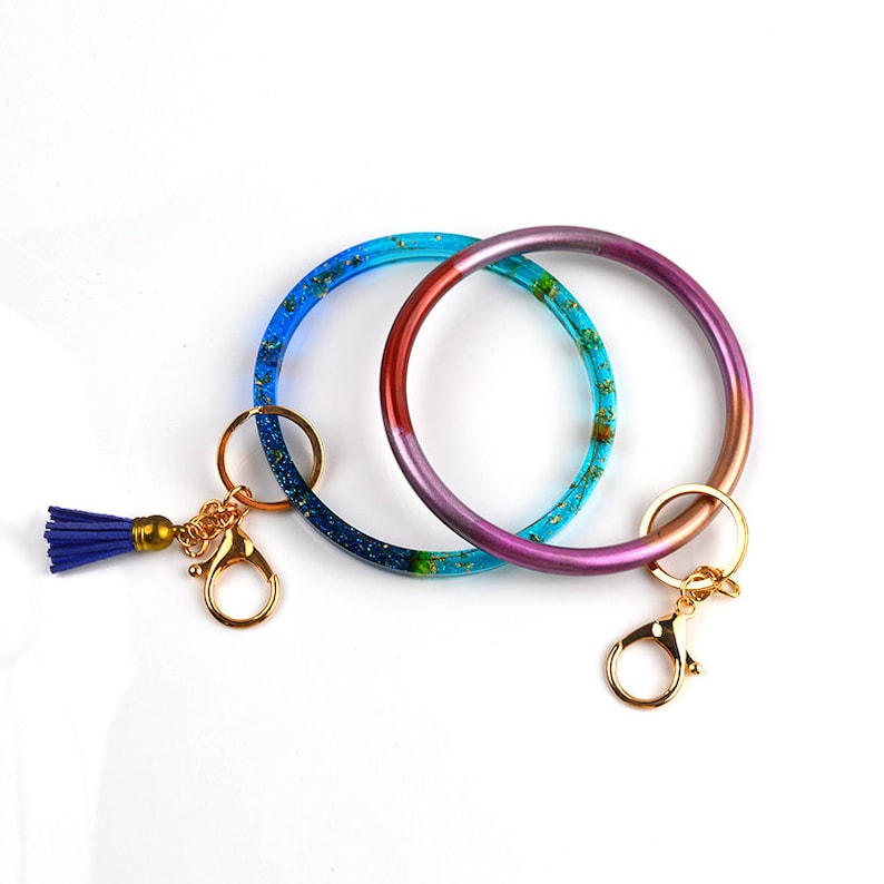 Square Round Bracelet Silicone Mold-Crystal Epoxy Bag Handle Mold-UV Resin Molds-DIY Dried Flower Specimen Ring Mold-Keychain Bracelet Mold