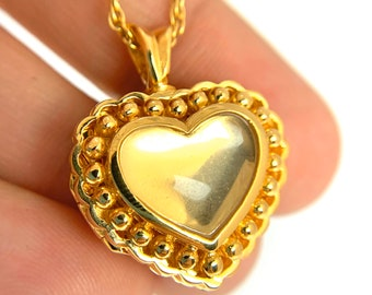 Remembrance Pendant Sterling Silver or 14K Gold Plated Charm Jewelry Beautiful Heart Cremation Ash Urn Necklace