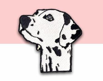 Embroidered Iron On Patch Christmas Lights Dalmatian Christmas Dog