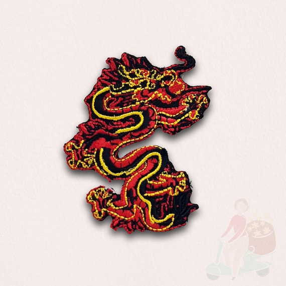 LEAPING FIGHTING TIGER  Embroidered Sew Iron On Cloth Patch Badge APPLIQUE