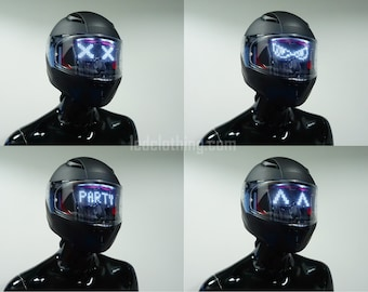 Wrench Mask | Customizable Bluetooth LED light helmet for Dj, raves, Festivals, Parties, Flashing - display messages, animation, drawings