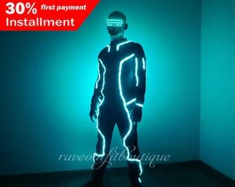 Tron Legacy | LED light up cosplay costume Tron | Tron dance suit | tron costume | LED show wear- LEDCLOTHING.com