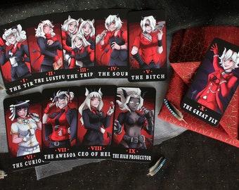 Set of 10 Tarot Cards - Helltaker