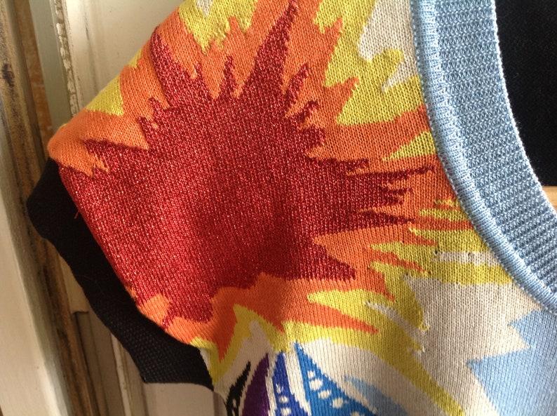 cotton top Sweater Kenzo Jean short sleeve wonder smash comics pattern wonder woman