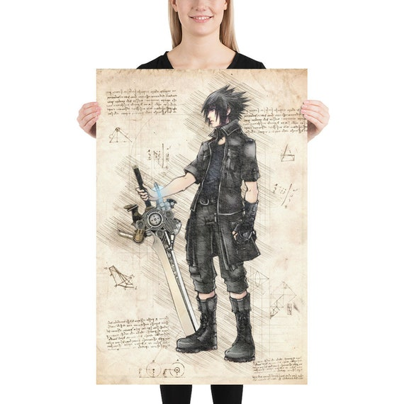 Final Fantasy Poster Art Print Watercolor Wall Decor Game Print Poster Gift n2