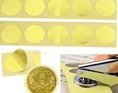 100pcs Gold Foil Seal Stickers Embosser Stamp Sealing Blank Certificate Round Self-Adhesive Metallic Stickers