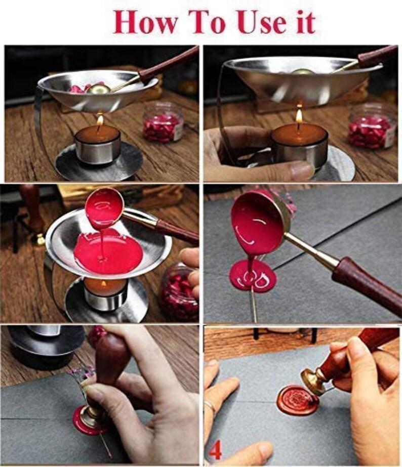 Rose Flower Wax Seal Sealing Stamp Kit Valentine Gift Envelopes Parcels Cards Wedding Invitations Rosewood Flower Love Wax Seal Stamp Kit