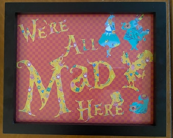 Alice in Wonderland Inspired Wall Art