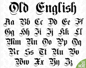 Old english stencil | Etsy