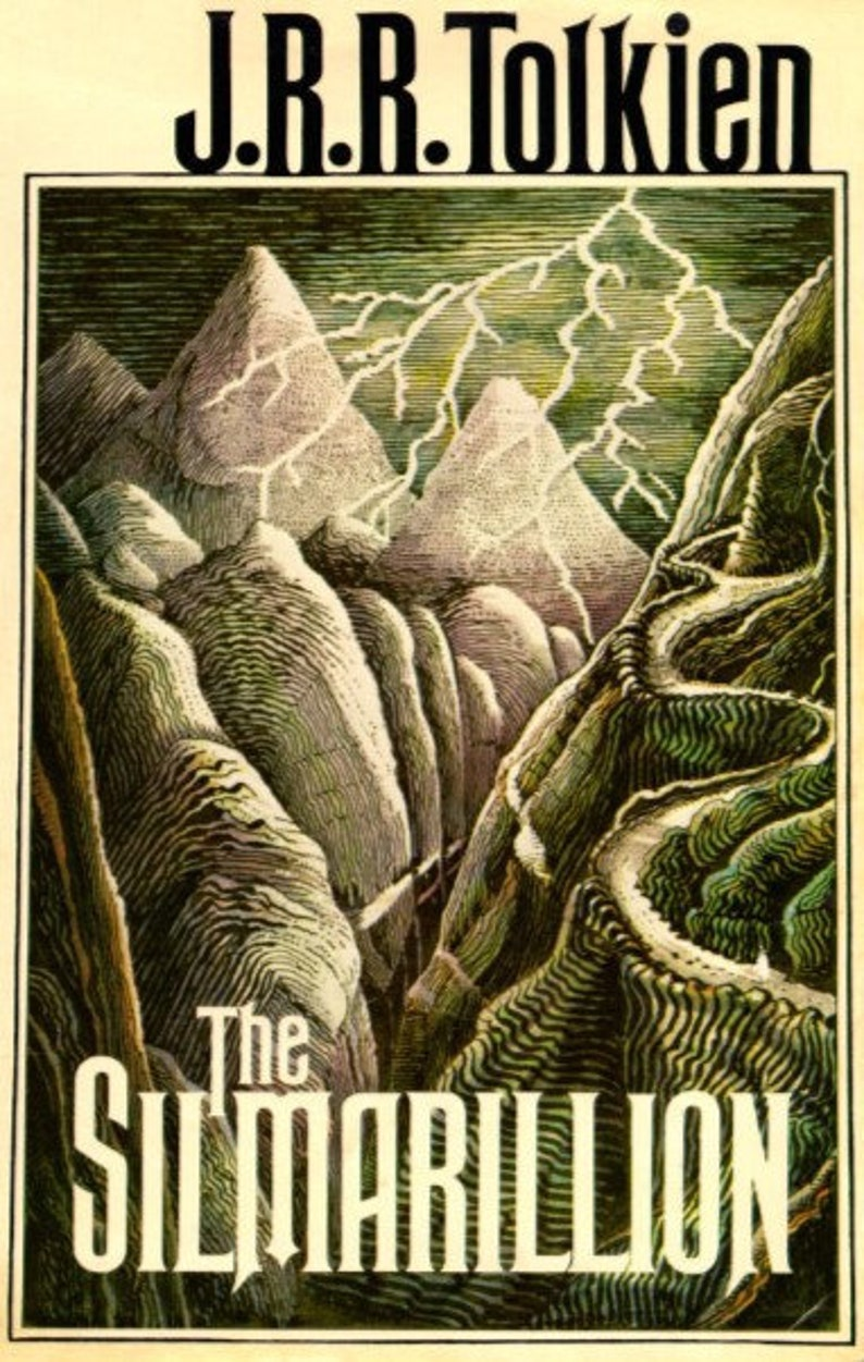 J.R.R. Tolkien's The Silmarillion Wooden Book Cover Wall image 0