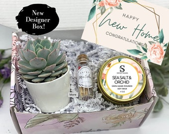 House Warming Gifts, New Home Gift, New Home Card, Happy New Home, Home Sweet Home, Succulent Gift Box, Care PackageFREE SHIPPING