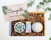 House Warming Gifts, New Home Gift, New Home Card, Happy New Home, Home Sweet Home, Succulent Gift Box, Care Package FREE SHIPPING