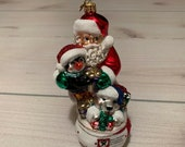 Christopher Radko Santa Ornament New