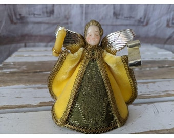 Handcrafted Sable Leather Angel Tree Topper more colors