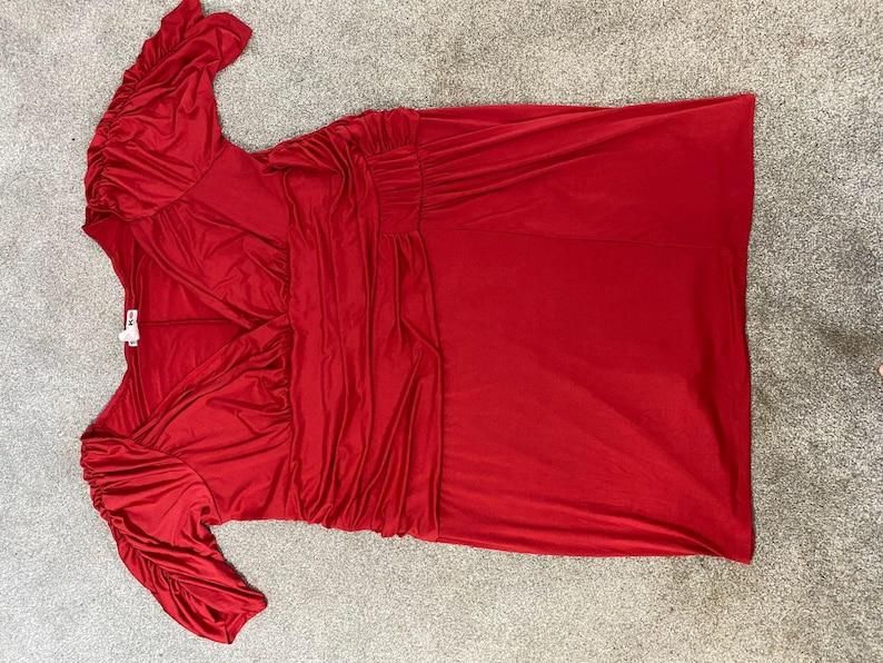 Women\u2019s Size 5X Swak Red fancy formal stretchy dress