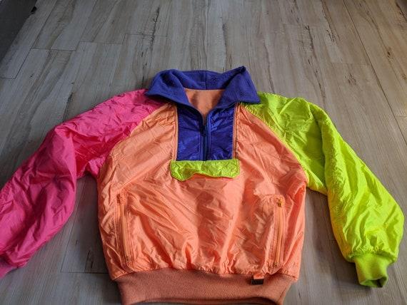 Vintage White stag ski jacket coat block bold brig