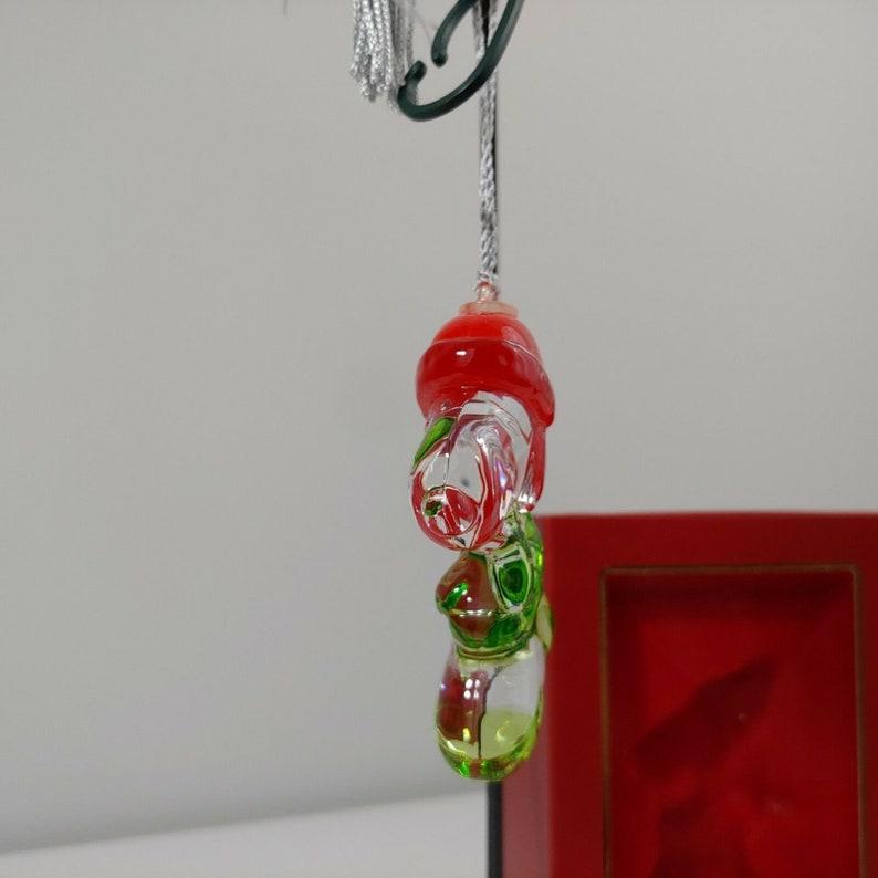 crystal Xmas Ornament tree holiday Lenox Stocking Stuffer Snoopy #760549