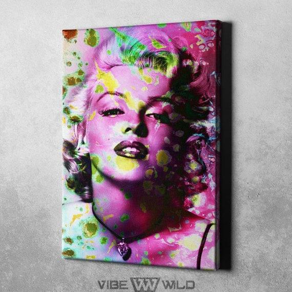 Marilyn Monroe Canvas Abstract Painting Marilyn Monroe Wall Etsy
