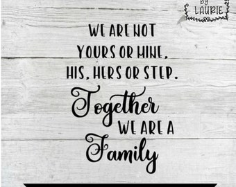 Blended Family Blended Family Gift Blended Family Sign | Etsy