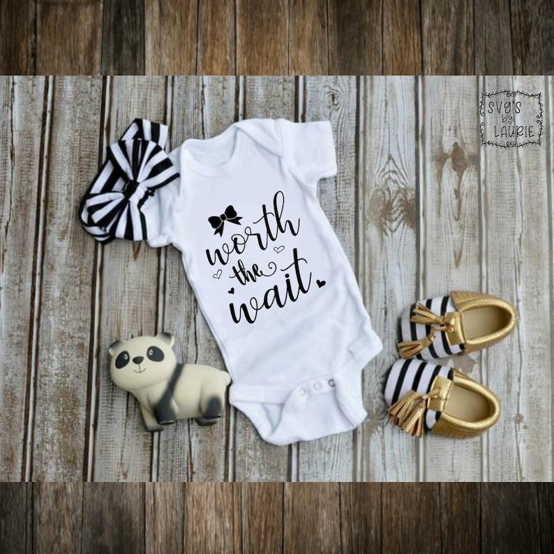 Worth the wait SVG Onesie SVG Bib SVG Baby svg Baby | Etsy