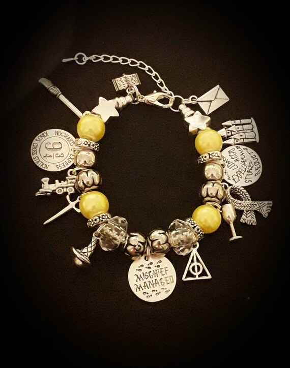 Harry Potter Inspired Rolo//Belcher Chain Necklace And Earrings Set Mischief Managed Fan Gift