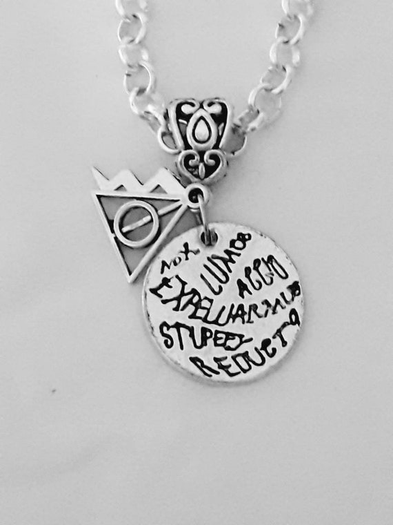 NECKLACE Harry Potter Inspired Mischief Managed with Pillow Gift Box Kids Girls
