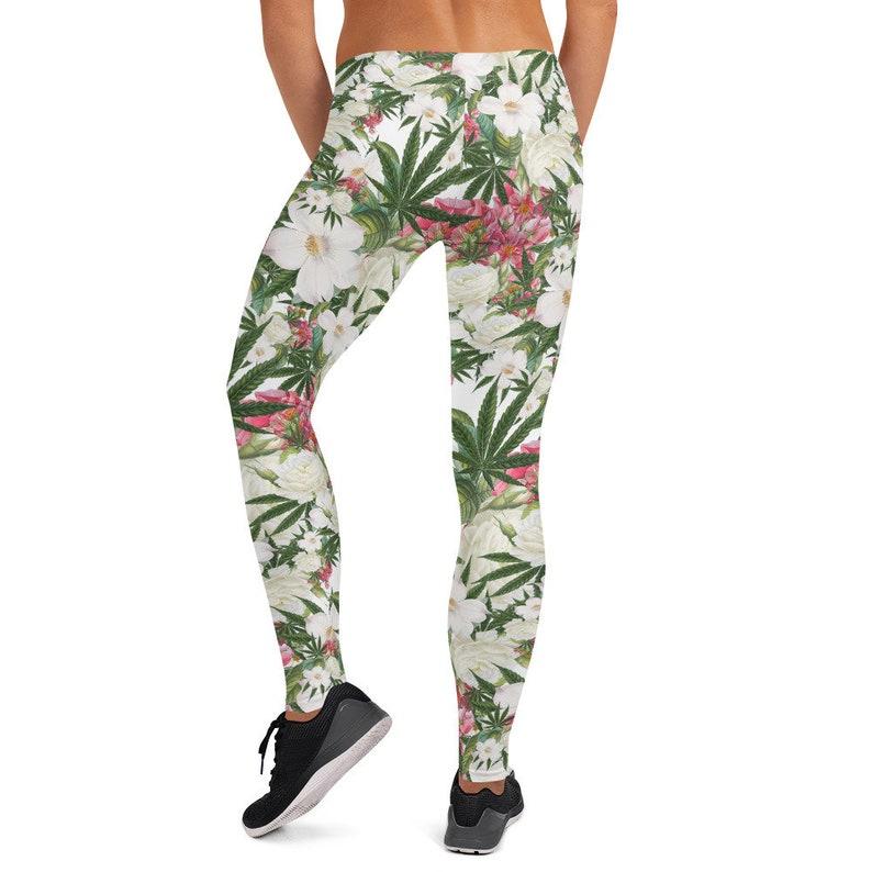 Cannabis Gift for Her Stoner Gift for Her Leggings for Women Stoner Aesthetic Stoner Girl Gift Stoner Girl Clothing Weed Leggings
