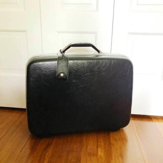 1970s Vintage Samsonite Luggage, Silhoutte II Leat