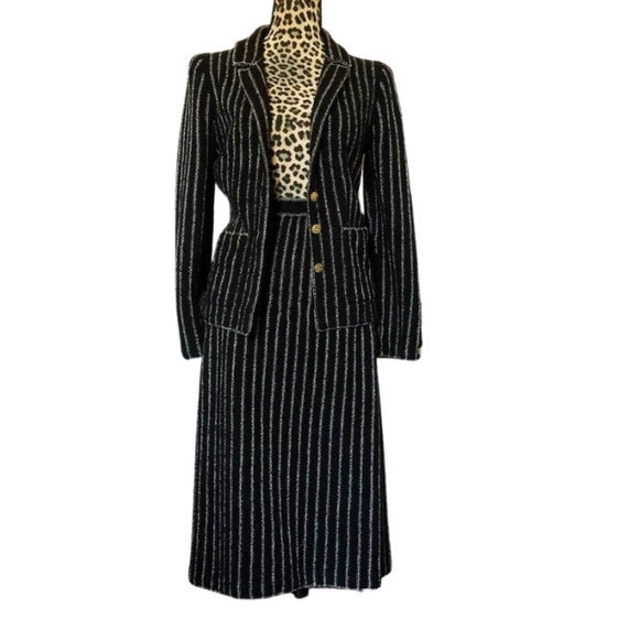 Adolfo New York Suit, 1980s Designer Fashion, NYC
