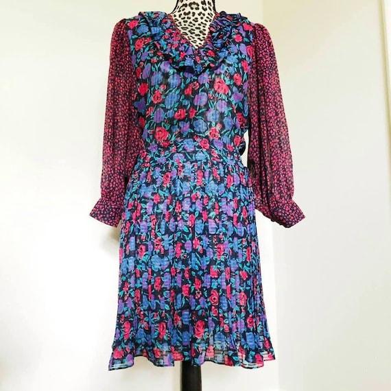 Diane Freis 1980s Vintage Dress, Vintage Fashion,