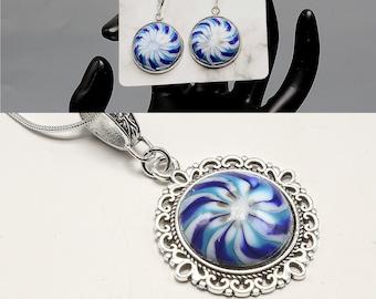 SOUTHWEST CABOCHON ENSEMBLE Necklace andor Earrings Handmade Lampwork Glass Creations