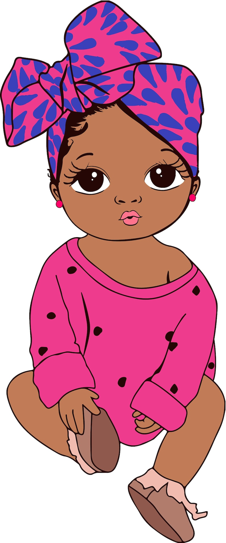Download Peekaboo girl with puff afro ponytails svg Cute black ...