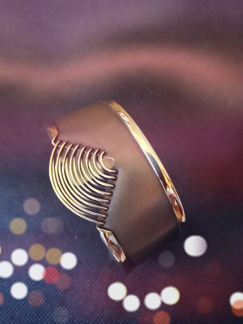Success and harmony wish bracelet bangle bracelet brass cuff image 0