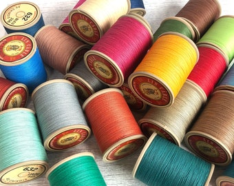 from 3 meters French waxed linen twine, Fil Au Chinois Lin Céblé No. 632, 0.51 mm thickness,