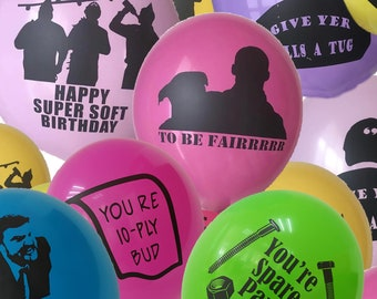 """Letterkenny Themed 12"""" Latex Super Soft Birthday Party Balloons - Pack of 48"""