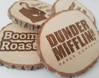 The Office TV Show Wooden Laser Engraved Coasters