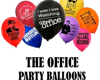 """The Office Themed 12"""" Latex Party Balloons - Pack of 40"""