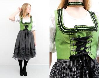 Austrian,Folk National dress,eu 38,us8,sarafan dress, 70s,Trachten Dress,Bavarian Traditional Drindl dress Octoberfest