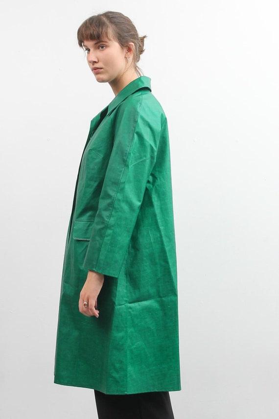 Vintage Green Rukka Raincoat / Long Bohemian Rain… - image 4