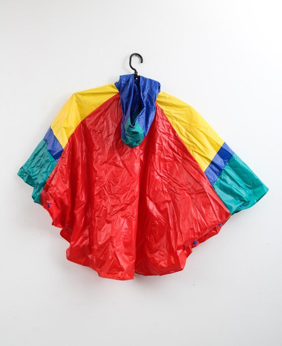 Vintage Colourful Raincoat / Children Raincoat / … - image 4