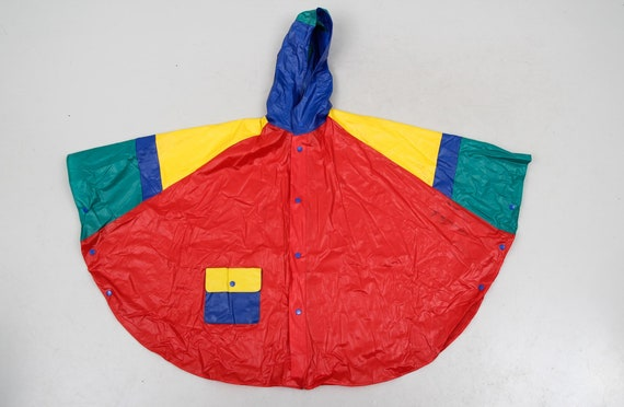 Vintage Colourful Raincoat / Children Raincoat / … - image 8