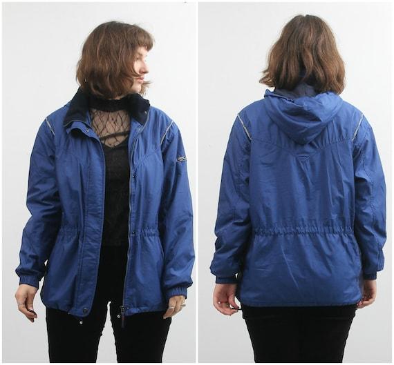 Vintage Blue Windbreaker / Rukka Hooded Windbreake