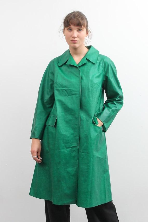 Vintage Green Rukka Raincoat / Long Bohemian Rain… - image 2