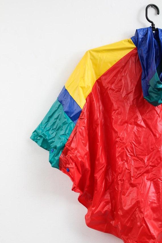 Vintage Colourful Raincoat / Children Raincoat / … - image 5