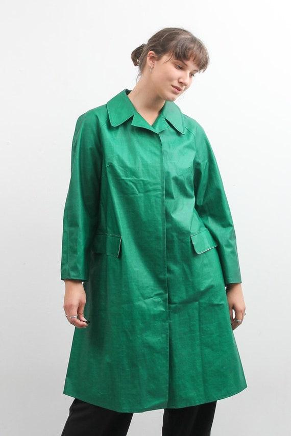 Vintage Green Rukka Raincoat / Long Bohemian Rain… - image 8