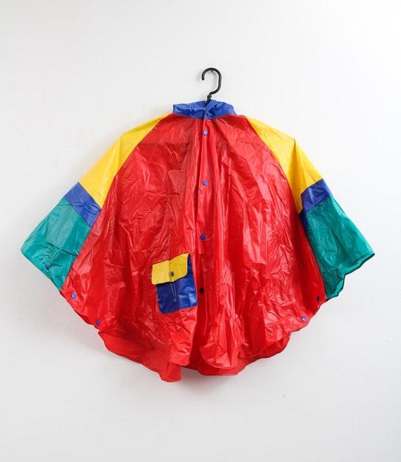 Vintage Colourful Raincoat / Children Raincoat / … - image 2