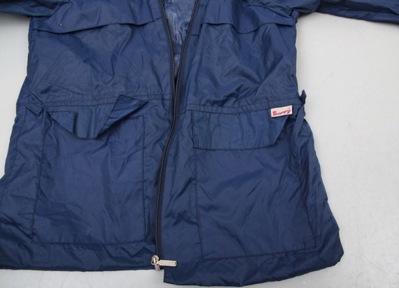 90s Blue Raincoat / Hooded Raincoat / Small Rainc… - image 9